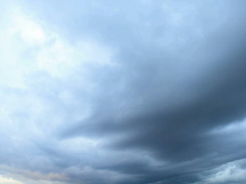 Rain clouds, rain starts. Time Lapse Stock Video Footage