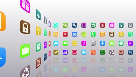 Smart Phone apps R 7 Cs 1w 1 HD Stock Video Footage
