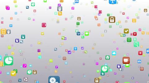 Smart Phone apps S 7 Km 1w 1 HD Stock Video Footage