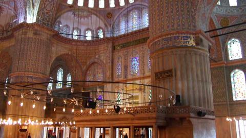 sultanahmet mosque interior in istanbul turkey Footage