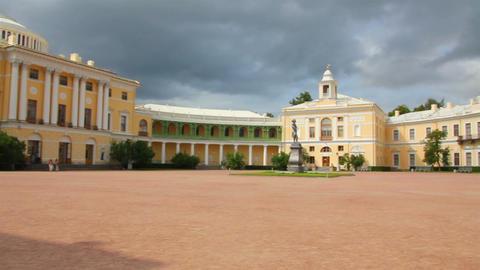 Grand palace in Pavlovsk park Saint-Petersburg Rus Footage