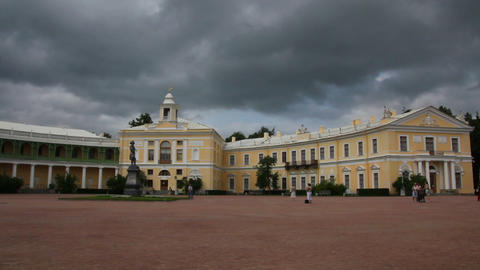 Grand palace in Pavlovsk park Saint-Petersburg Rus Footage