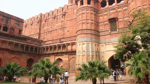 main gates in Agra fort - India Footage