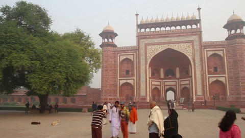 Taj Mahal entrance in Agra India Footage