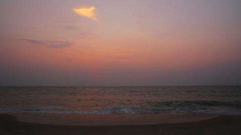 beauty landscape with sea after sunset - timelapse Stock Video Footage