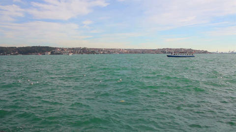 Bosphorus Strait in Istanbul Turkey Stock Video Footage