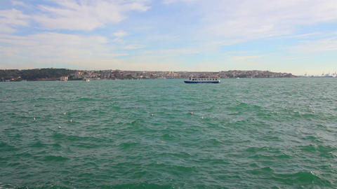 Bosphorus Strait in Istanbul Turkey Footage