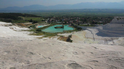 panorama of pamukkale turkey Footage