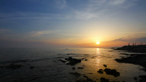 sunset over sea Stock Video Footage
