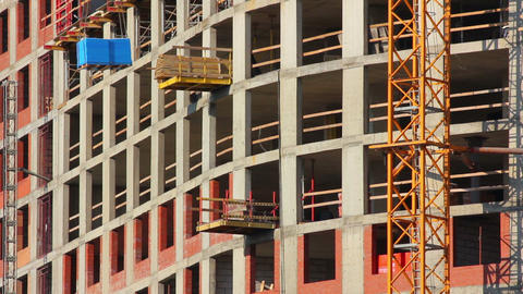 construction of new building Stock Video Footage