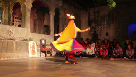 Dances of India - view in Udaipur Rajasthan Footage