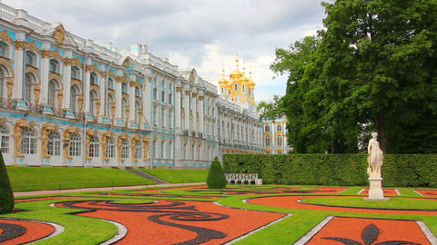 Catherine Palace in Pushkin, St. Petersburg Russia Stock Video Footage
