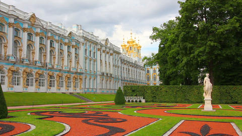 Catherine Palace in Pushkin, St. Petersburg Russia Footage