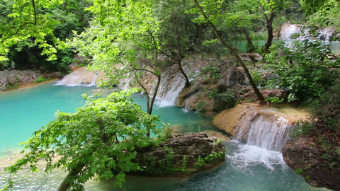 waterfall in forest - Kurshunlu Turkey Stock Video Footage