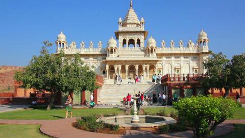Jaswant Thada mausoleum in Jodhpur India Stock Video Footage
