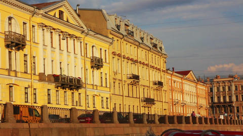 Fontanka river in St. Petersburg Russia - shooting Stock Video Footage