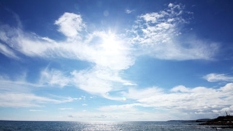 sun clouds and sea timelapse landscape Stock Video Footage