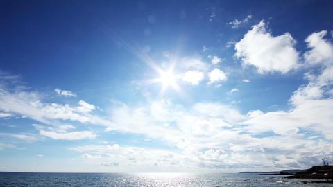 sun clouds and sea timelapse landscape Stock Video Footage