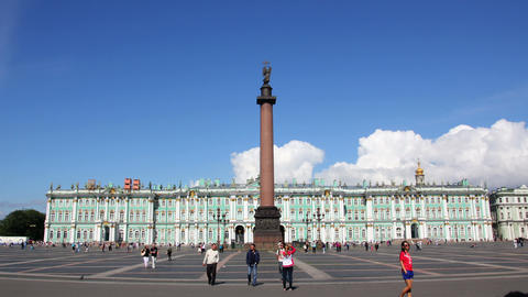 Hermitage and Palace Square in St. Petersburg - ti Footage