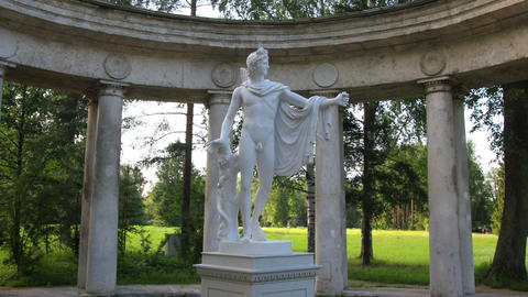 apollo colonnade, Pavlovsk park St. Petersburg Rus Stock Video Footage