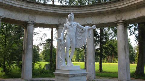 apollo colonnade, Pavlovsk park St. Petersburg Rus Stock Video Footage
