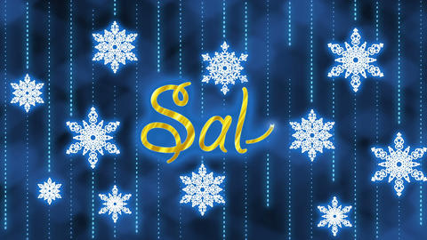 Christmas Sale Stock Video Footage