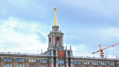 City Hall. Ekaterinburg, Russia. Time Lapse Stock Video Footage