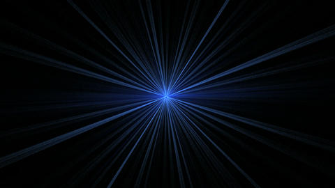 Blue Star Shining on Black Stock Video Footage