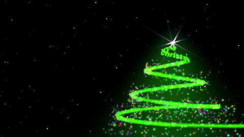 Spiral Christmas tree Stock Video Footage