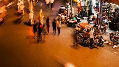 HANOI CYCLO TIME LAPSE - HOAN KIEM, VIETNAM Footage