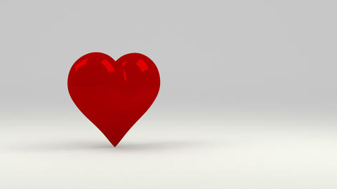 Red heart CG動画素材
