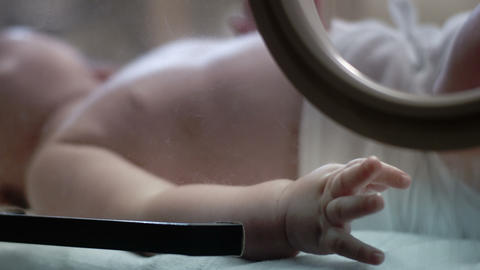 Baby in Incubator - 600fps Slow Motion Stock Video Footage
