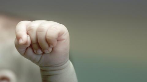 Baby winning Stock Video Footage