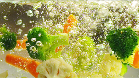 Vegetables in the water Stock Video Footage