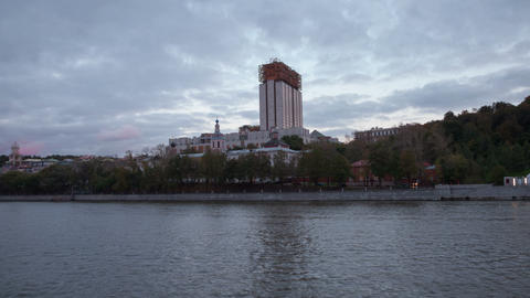 The Russian Academy of Sciences hyperlapse 4K Stock Video Footage