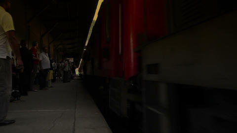Arriving train Stock Video Footage