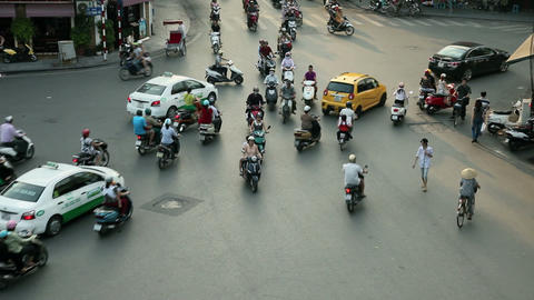 TRACKING HANOI TRAFFIC - HOAN KIEM DISTRICT Footage