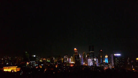 urban night scene,modern city Stock Video Footage