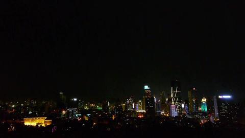 urban night scene,modern city Stock Video Footage