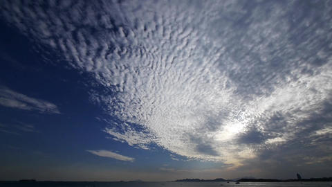 timelapse clouds,sea skyline Stock Video Footage