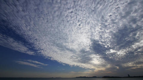 timelapse clouds,sea skyline Animation