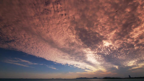 timelapse sunset clouds,sea skyline Stock Video Footage