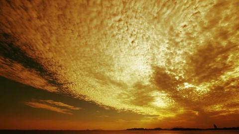timelapse sunset clouds,sea skyline Stock Video Footage