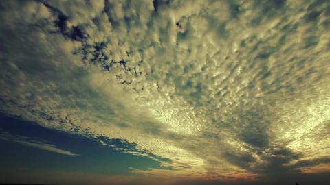 panoramic of clouds,sea skyline Stock Video Footage