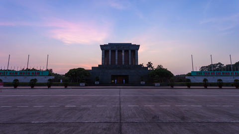 4k - HANOI Time lapse - Ho Chi Minh Mausoleum Stock Video Footage
