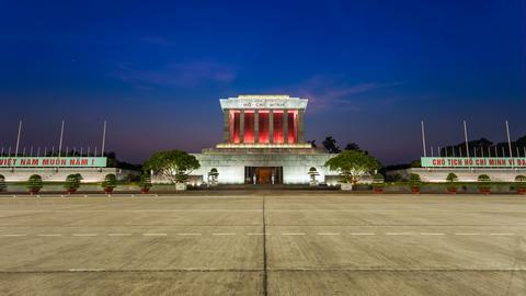 4k - HANOI Time lapse - Ho Chi Minh Mausoleum Stock Video Footage