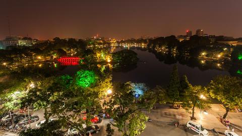 4k - HANOI HOAN KIEM LAKE - VIETNAM Footage
