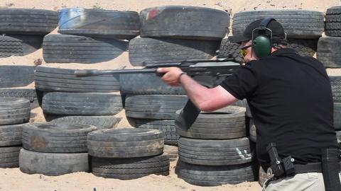 Kalashnikov shooting Footage