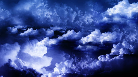Lightning Storm Clouds Stock Video Footage