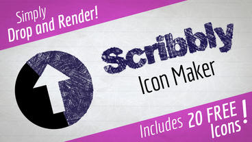 Scribbly Icon Maker After Effects Templates